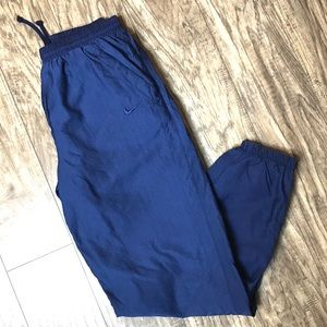 Vintage Nike Lined Track Pants Cuff & Zip Bottom M
